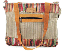 Load image into Gallery viewer, Mato Naturals Travel Allo Tote Shoulder Crossbody Handbag Brown with Patterns