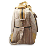 Mato Allo Overnight Weekender Travel Duffel Bag Brown Suede