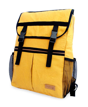 Tori Canvas Backpack Rucksack Mustard Color Urban Minimalist Design