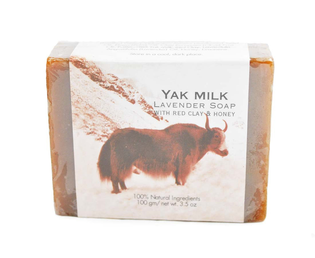 Mato Naturals Yak Milk lavender Soap with Pure Himalayan Herbal Honey and Red Clay