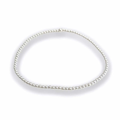 2mm Soothing Silver Bracelet