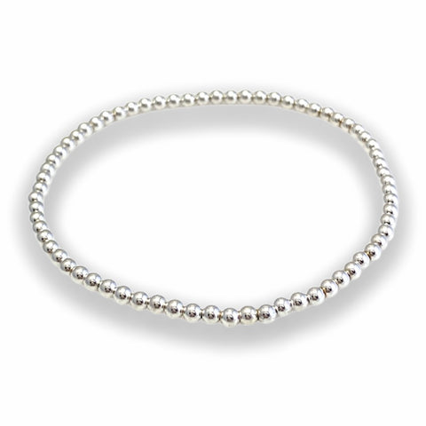 3mm Soothing Silver Bracelet