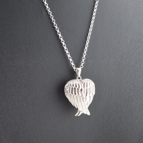 Angel Wings Locket Necklace