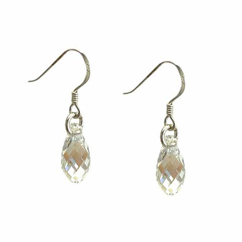 Birthstone April Teardrop Earrings