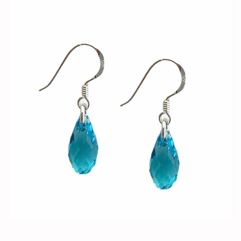 Birthstone December Teardrop Earrings