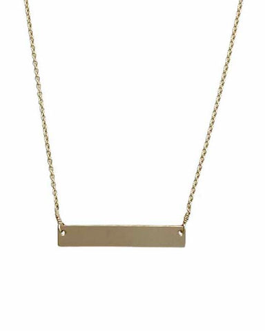 Bar Necklace - Gold - Engravable