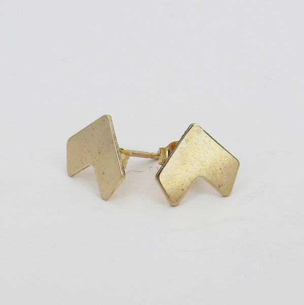 Gold Chevron Studs