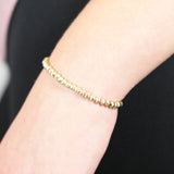 5mm Corrugated Gold Bracelet
