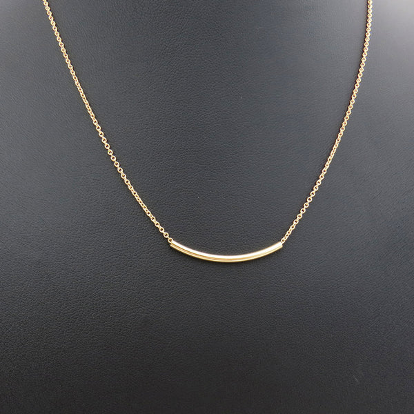 Tube Necklace - Gold