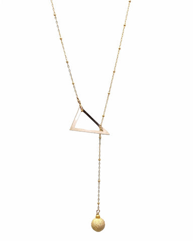 Lariat Necklace - Gold