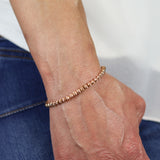 5mm Corrugated Rose Gold Bracelet
