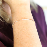 2mm Soothing Tube Bracelet Rose Gold