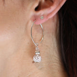 Fluted Shimmer Silver Earrings