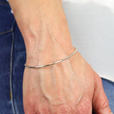 2mm Soothing Tube Bracelet Silver