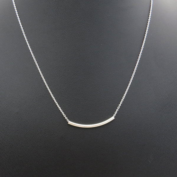 Tube Necklace - Silver