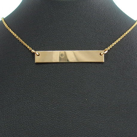 Gold Engravable Necklace