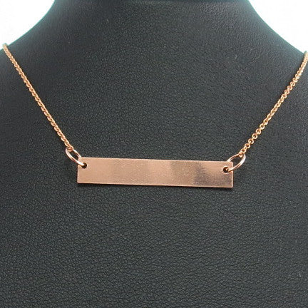 Engravable Necklace - Rose Gold