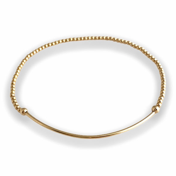 2mm Soothing Tube Bracelet Gold