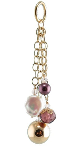 Purple Haze Gold Charm