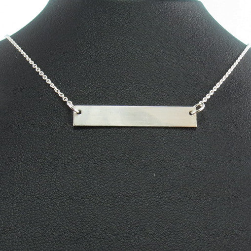 Engravable Necklace - Silver
