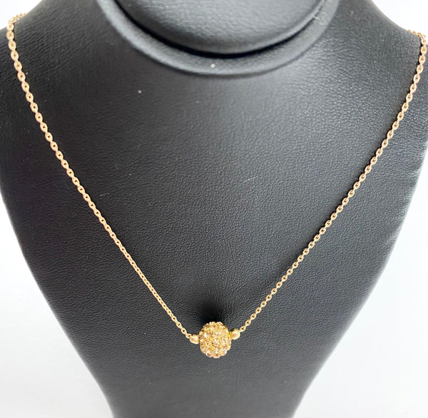 Short Shimmer Necklace - Gold