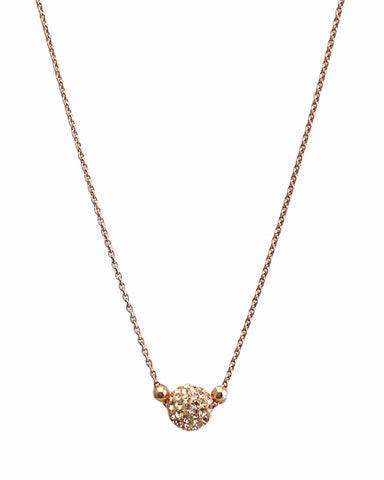 Short Shimmer Necklace - Rose Gold