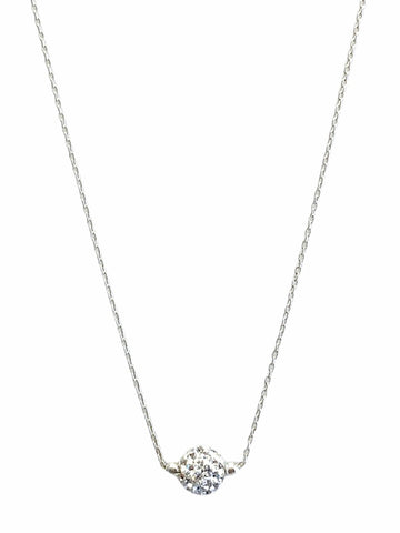 Short Shimmer Necklace - Silver