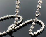 "Diamond Cut Ball Link Necklace (26""/32.2gr/14kt)"