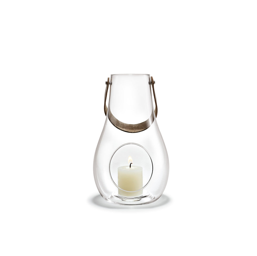 Design with Light Clear Lantern, 9.8""
