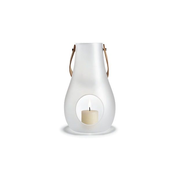 Design with Light Frosted Lantern, 9.8""