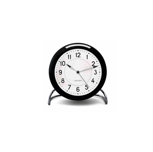 Arne Jacobsen Roman Table Alarm Clock, 4.3""