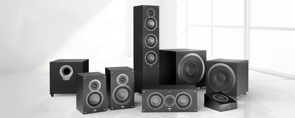 Elac Debut B5 B6 F5 with Dolby Atmos A4 and Subwoofers