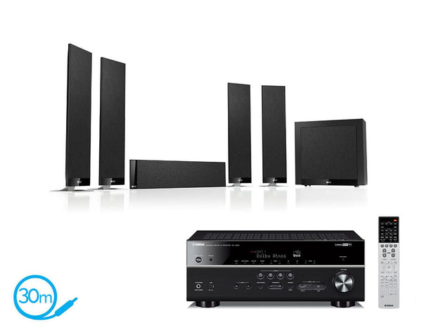 Yamaha RX-V683 AV Receiver & KEF T305 - 5.1 Speaker Package