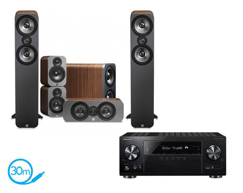 Pioneer VSX-832 AV Receiver & Q Acoustics Q3050 - 5.1 Speaker Package