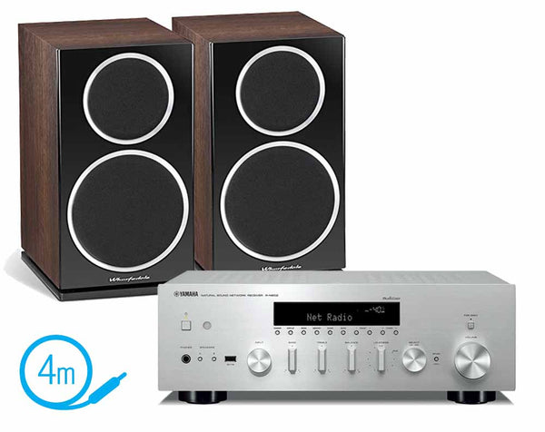 Yamaha R-N602 & Wharfedale Diamond 220 Bookshelf Speakers