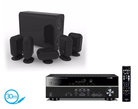 Yamaha RX-V383 AV Receiver & Q Acoustics Q7000i Plus - 5.1 Speaker Package