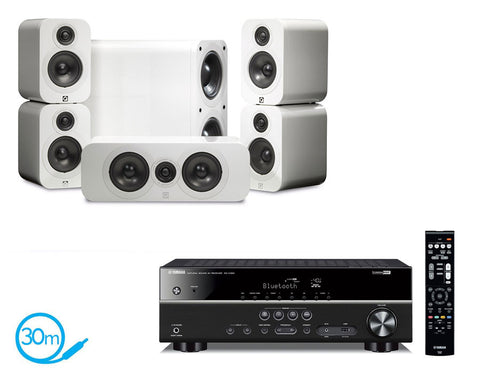Yamaha RX-V383 AV Receiver & Q Acoustics Q3000 - 5.1 Speaker Package