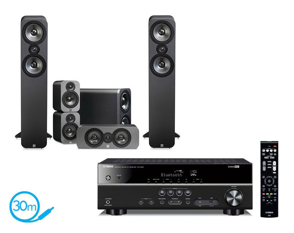 Yamaha RX-V383 AV Receiver & Q Acoustics Q3050 - 5.1 Speaker Package