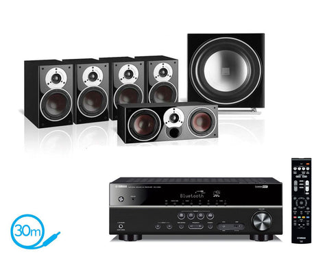 Yamaha RX-V383 AV Receiver & Zensor 1 - 5.1 Speaker Package