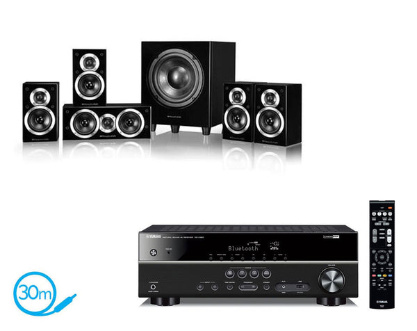 Yamaha RX-V383 AV Receiver & Wharfedale DX1-SE 5.1 Speaker Package
