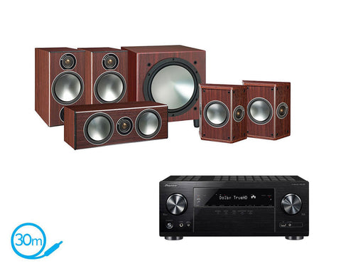 Pioneer VSX-832 AV Receiver & Monitor Audio Bronze 2 - 5.1 Speaker Package