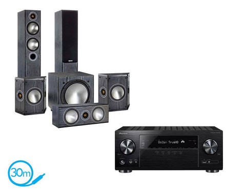 Pioneer VSX-832 AV Receiver & Monitor Audio Bronze 5 - 5.1 Speaker Package