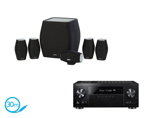 Pioneer VSX-832 AV Receiver & Monitor Audio MASS - 5.1 Speaker Package