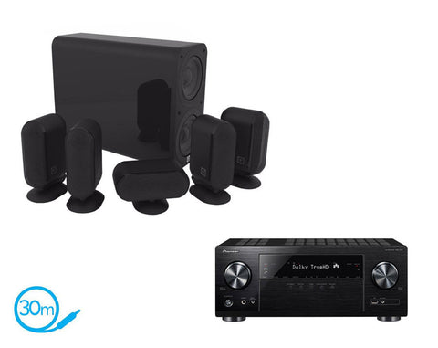 Pioneer VSX-832 AV Receiver & Q Acoustics Q7000i Plus - 5.1 Speaker Package