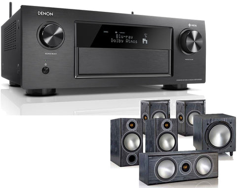 DENON AVR-X4400H AV Receiver & Bronze 2 - 5.1 Speaker Package