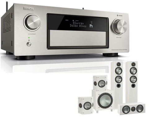 DENON AVR-X4400H AV Receiver & Bronze 5 - 5.1 Speaker Package