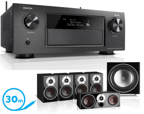 DENON AVR-X4400H AV Receiver & Zensor 1 - 5.1 Speaker Package