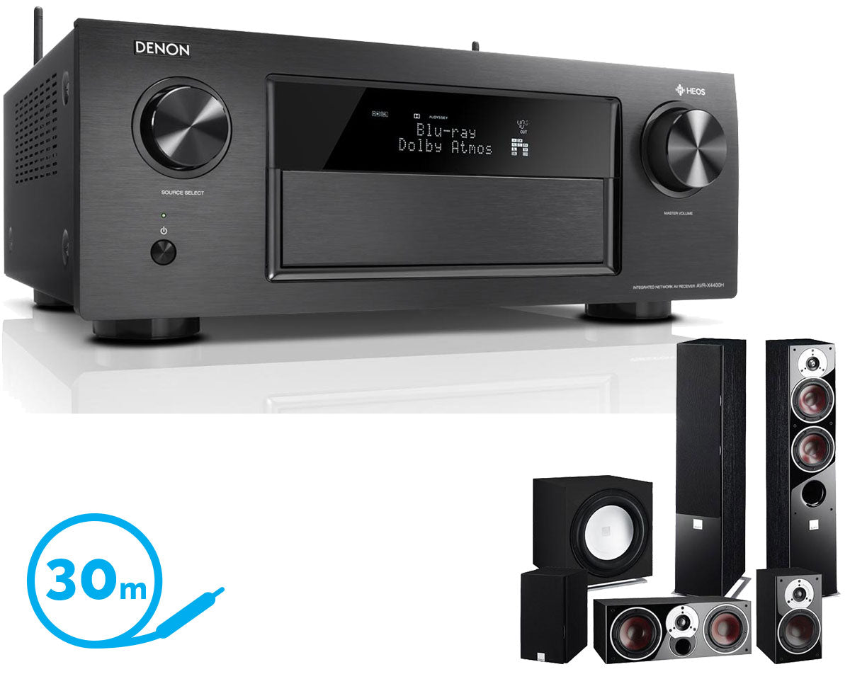 DENON AVR-X4400H AV Receiver & Zensor 5 - 5 1 Speaker Package