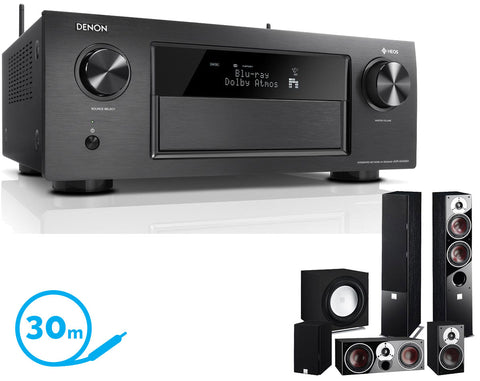 DENON AVR-X4400H AV Receiver & Zensor 5 - 5.1 Speaker Package