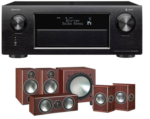 DENON AVR-X6400H AV Receiver & Bronze 2 - 5.1 Speaker Package